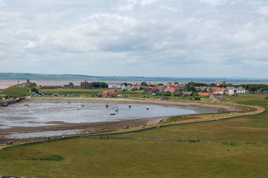 wieś na wyspie Lindisfarne