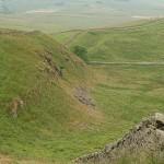 przebieg muru Hadriana w Anglii