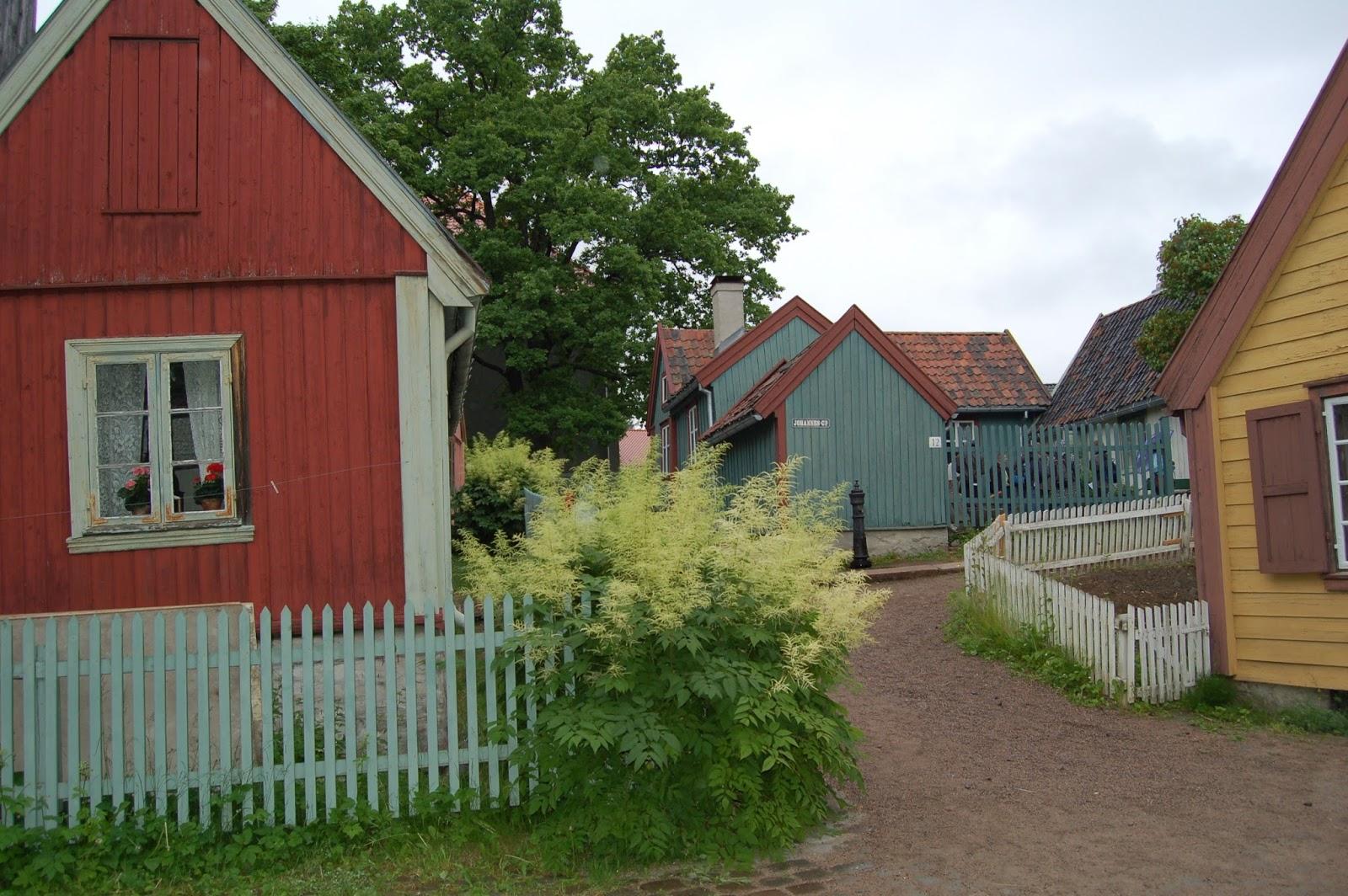 norweskie miasteczko w skansenie w Oslo