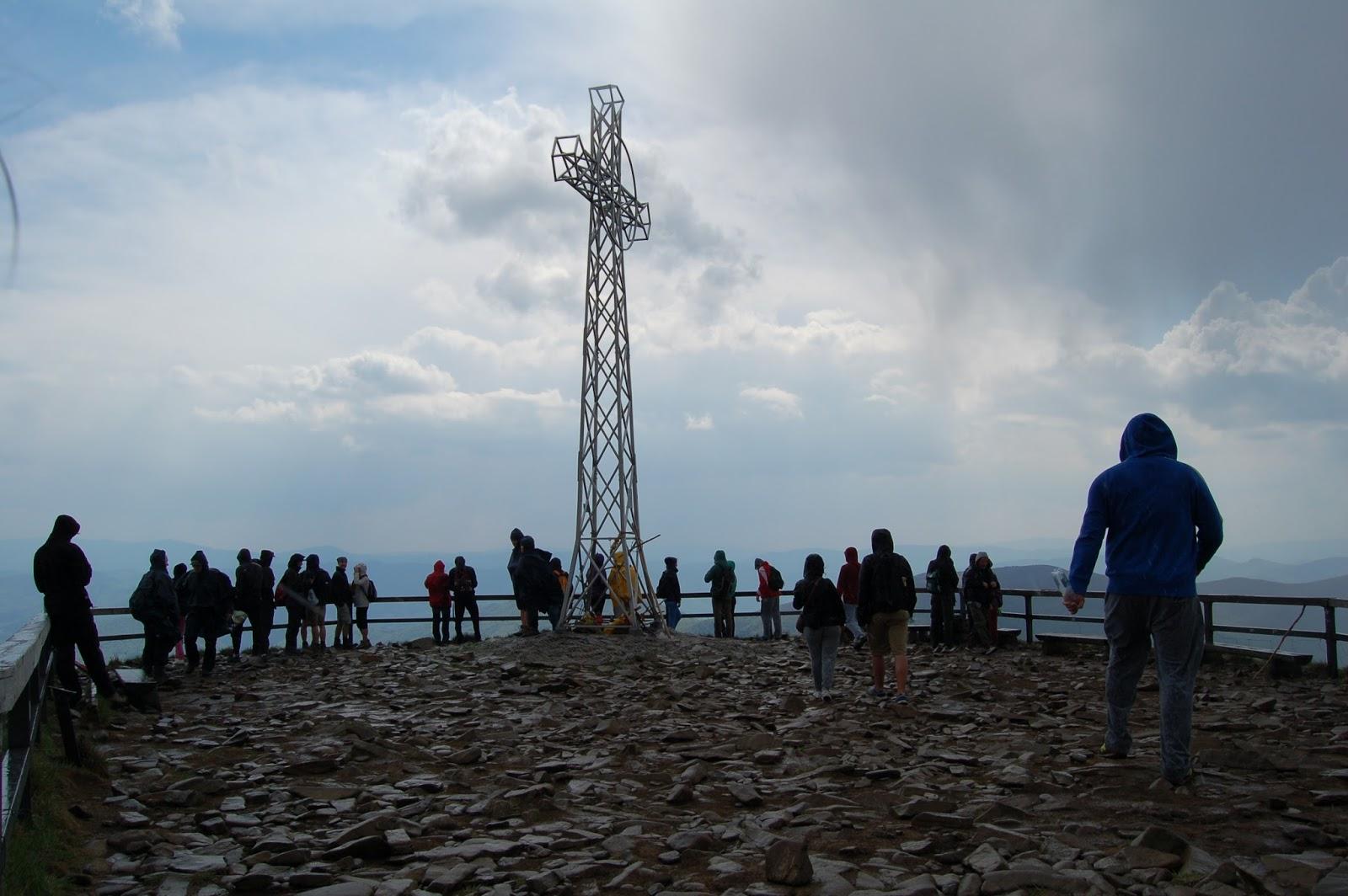 Tarnica, Bieszczady, szczyt z krzyżem