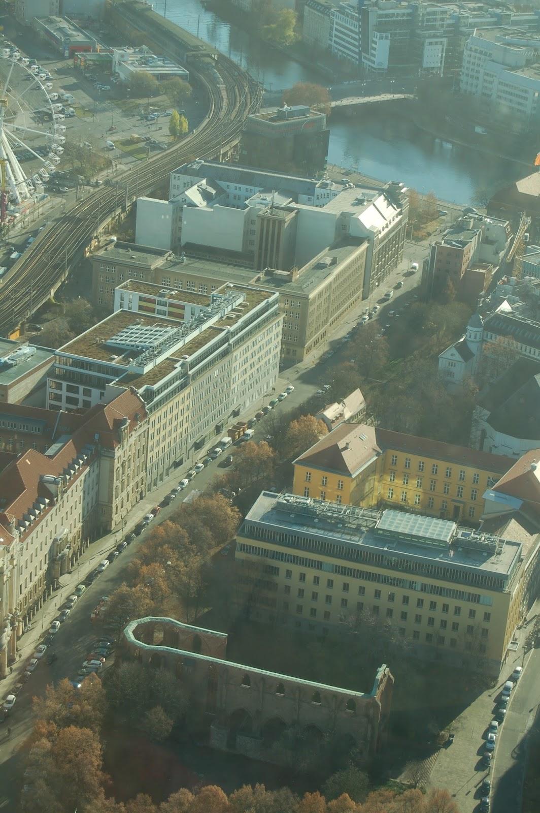 widok na Berlin, wieża telewizyjna