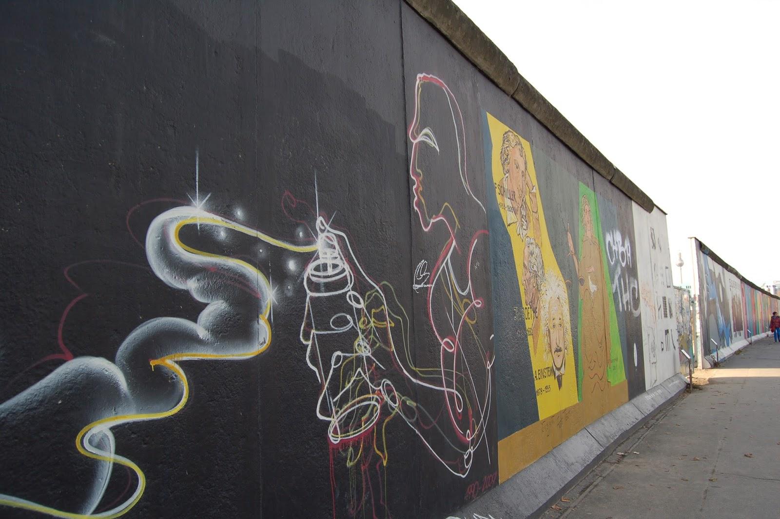East Side Gallery, Berlin, pozostałości po upadku muru