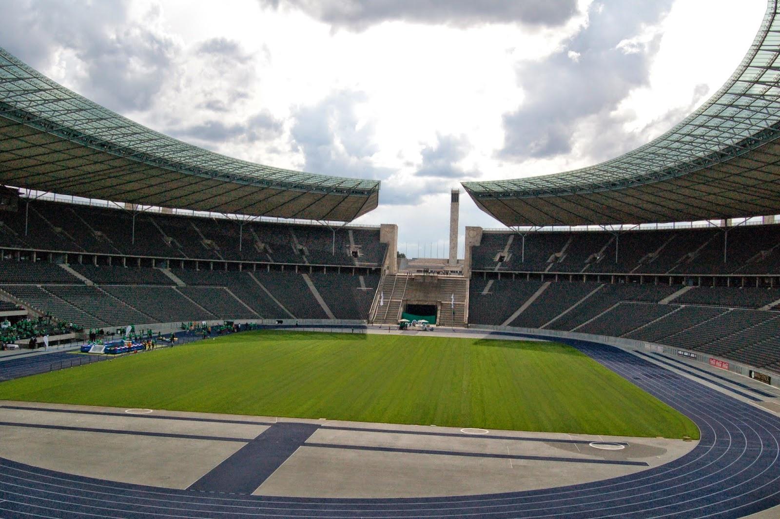 Stadion olimpijski w Berlinie, widok z trybun