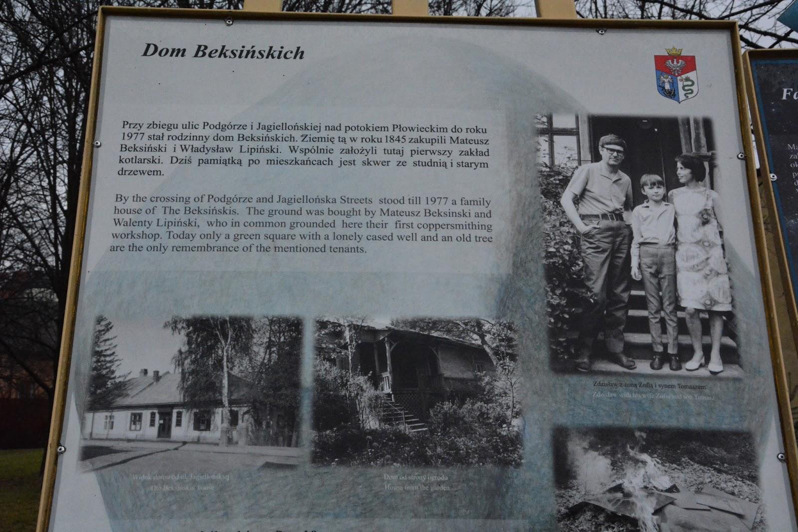 Beksiński, Sanok, Szlak Beksińskich w Sanoku