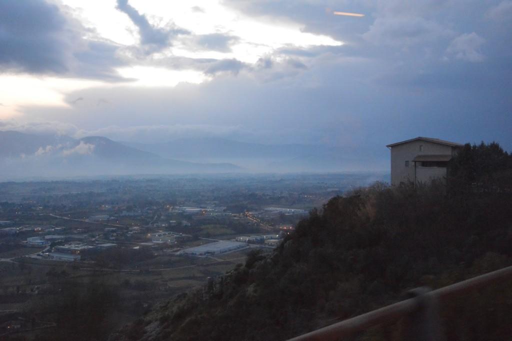 widok z Monte Cassino