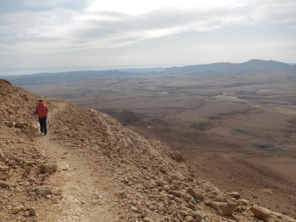 Przez Mitzpe Ramon, po kolorowych skałach do pierwszego deszczu , czyli ciągle idziemy Izraelski Szlak Narodowy