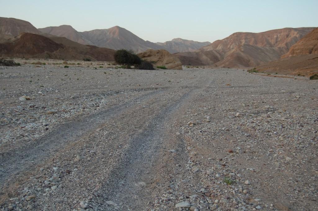 Najpiękniejsze bo ostatnie kilometry szlaku, czyli docieramy do mety w Ejlacie IZRAELSKI SZLAK NARODOWY