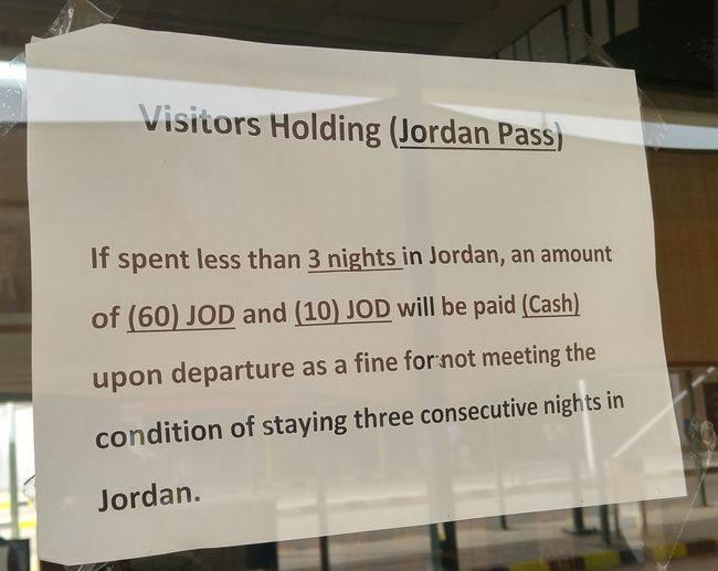 Jordan Pass a wiza Jordania