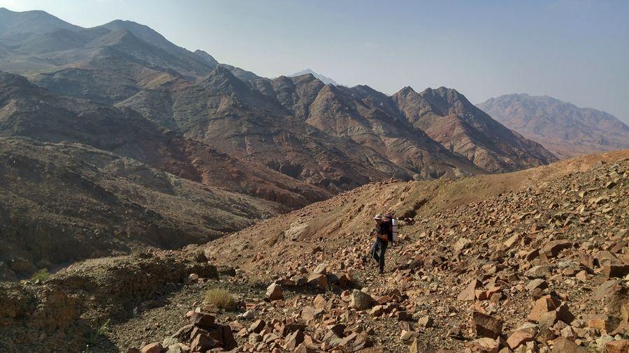 Szlak Jordański, Jordania, góry