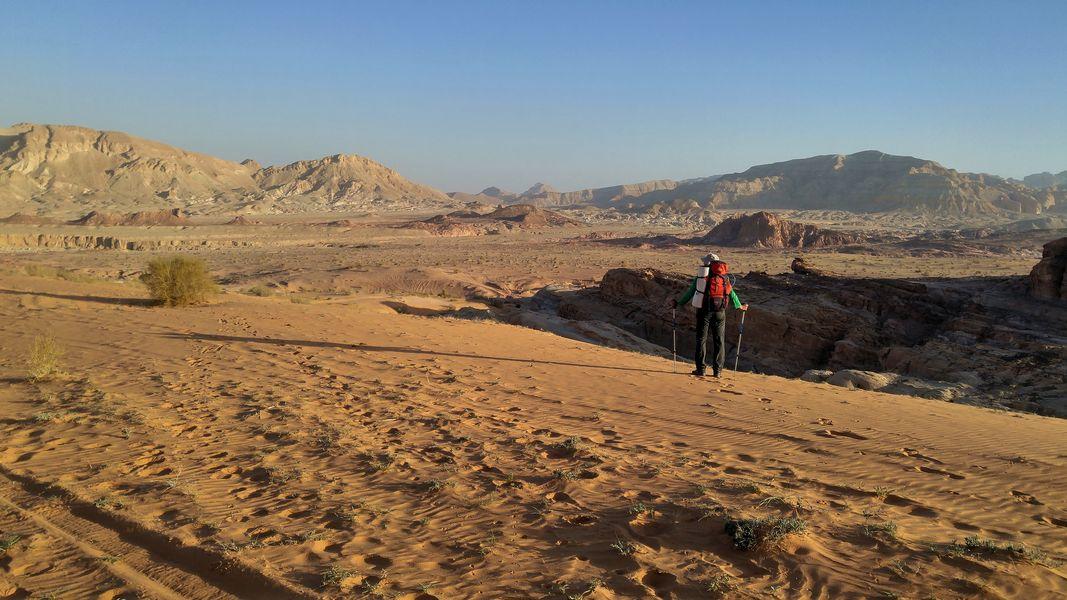 pustynne wadi, Jordania, Jordan Trail