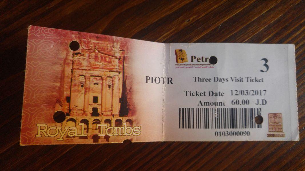 Petra, bilet imienny