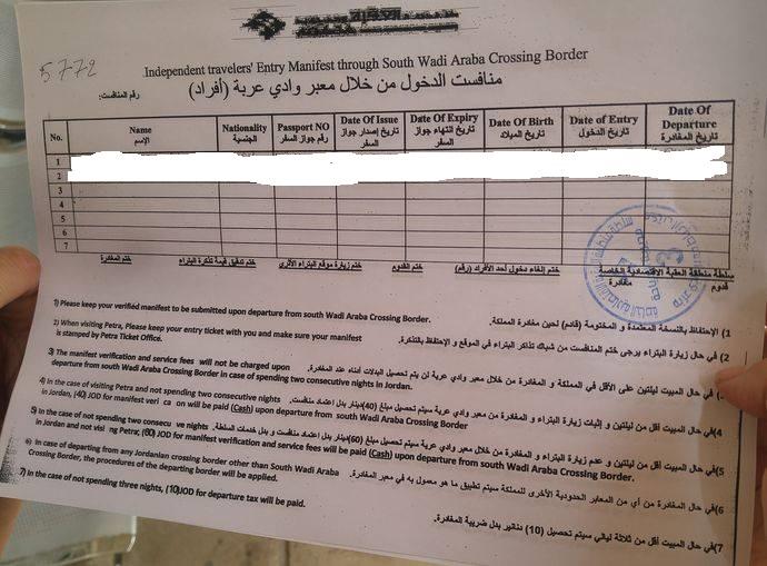 wiza Jordania deklaracje