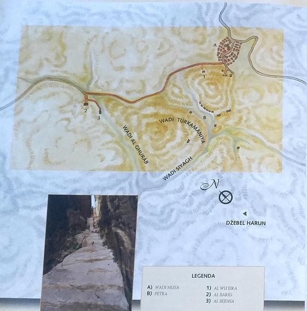 Little Petra, Jordan, Jordania, mapa