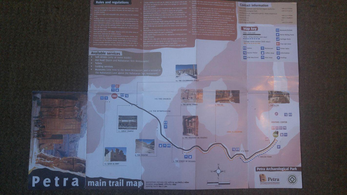 Petra mapa szlaki