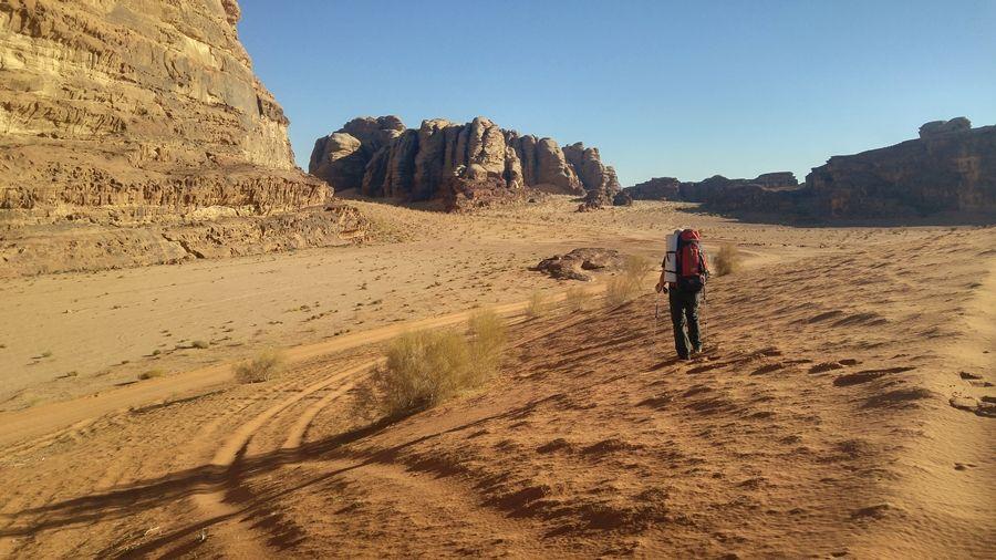 Wadi Rum, Jordania, szlaki