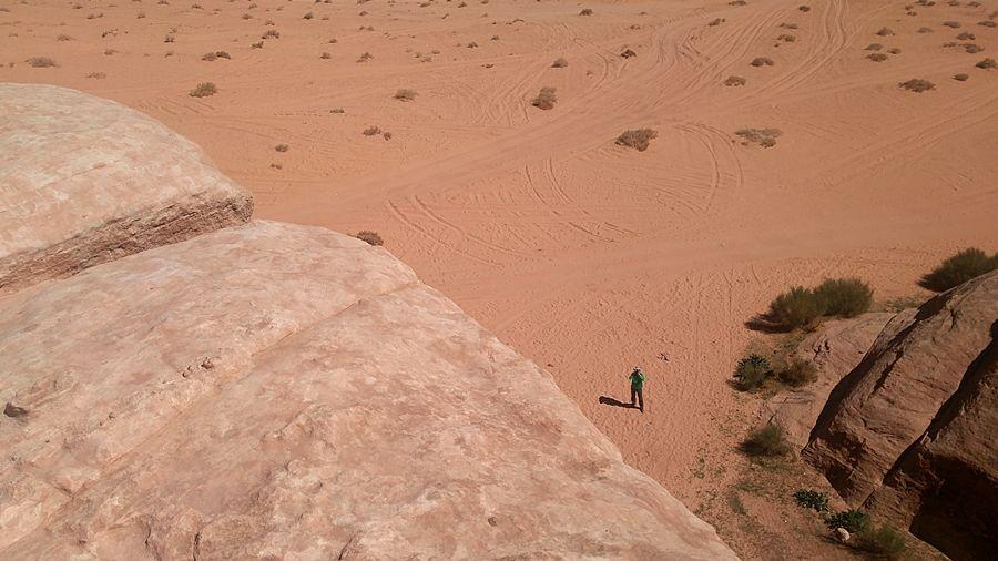 Um Frouth Rock Bridge, Wadi Rum w Jordanii