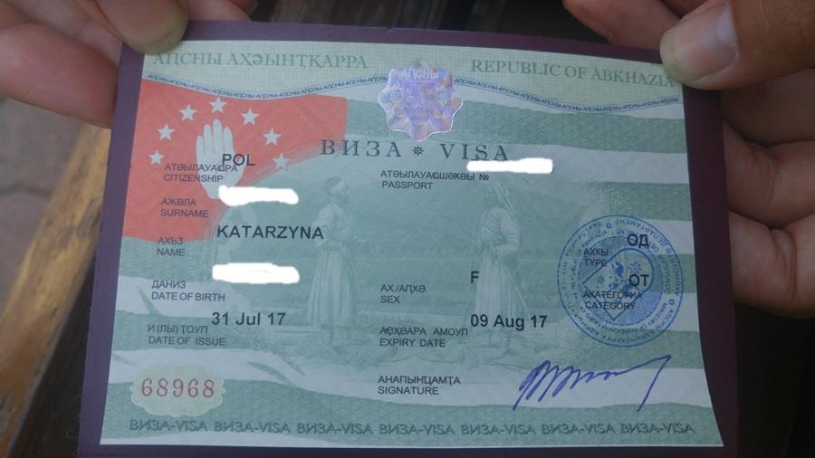 Abchazja wiza, wiza do Abchazji