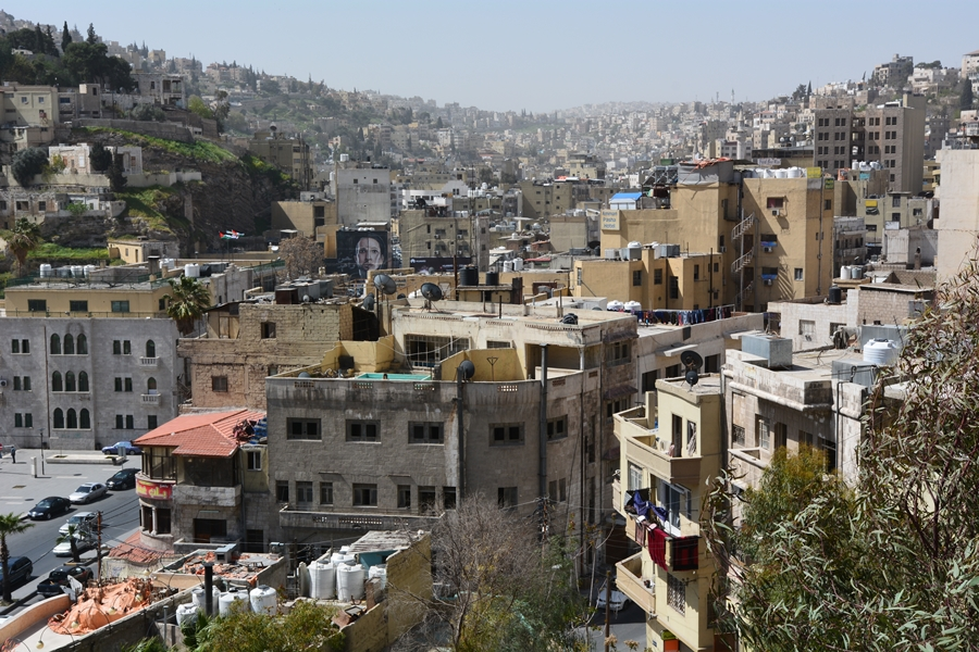 widok na Amman z Cytadeli