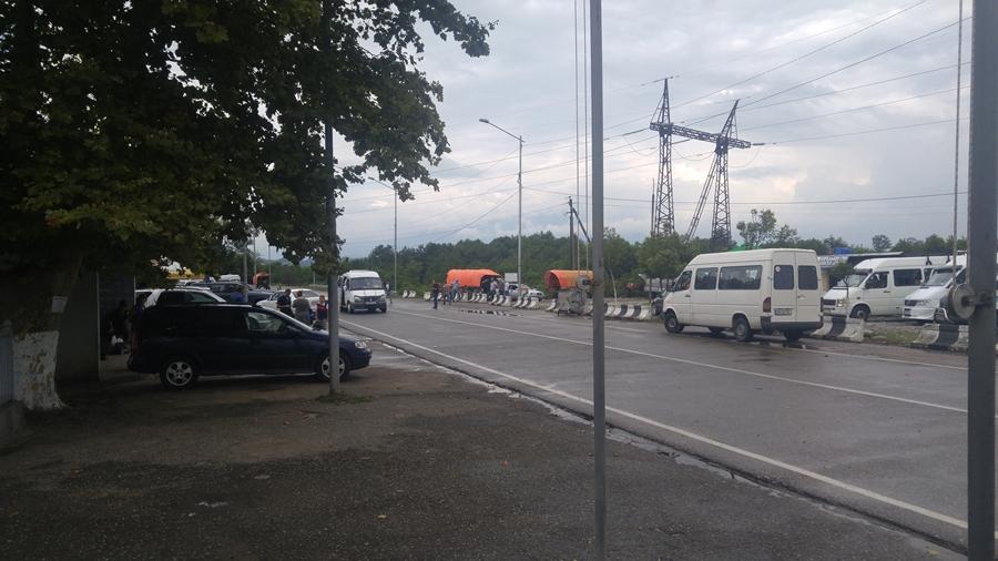 przekraczanie granicy Abchazja - Gruzja
