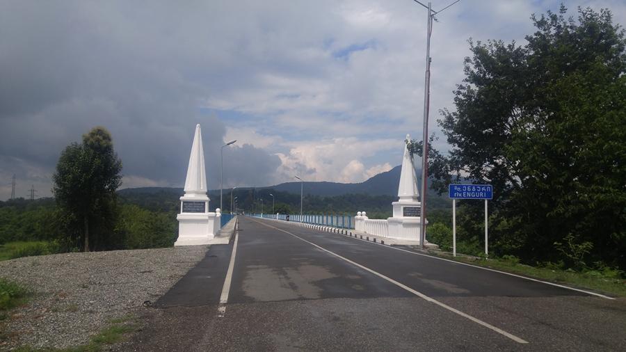 most na rzece Inguri, granica abchasko - gruzińska