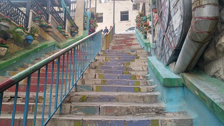 Amman, schody, Rainbow Street