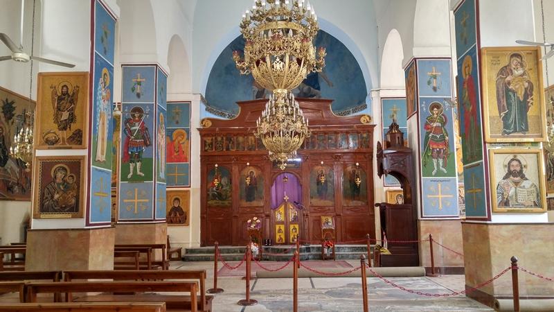 mapa z Madaby, mozaika, cerkiew św. Jerzego
