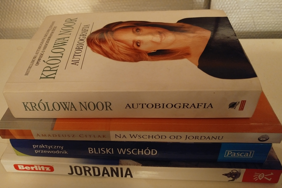 Jordania przewodnik, książki o Jordanii