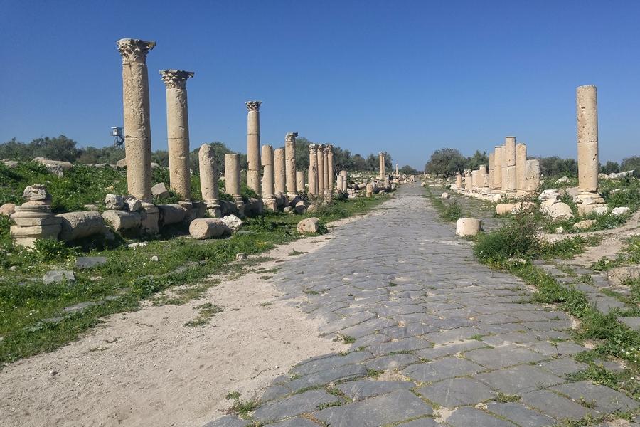 Umm Qais, Umm Kajs, ruiny, Gadara, Jordania