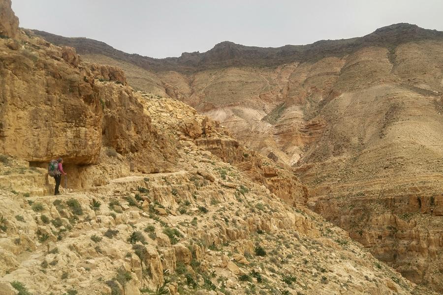Wadi Mujib, Jordania, Szlak Jordański