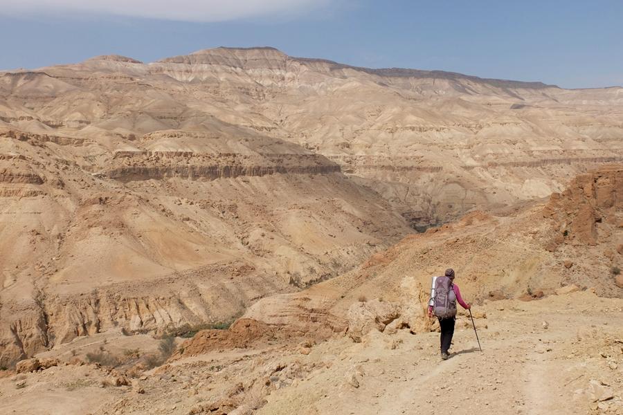 Wadi Mujib, Jordania, widok na kanion