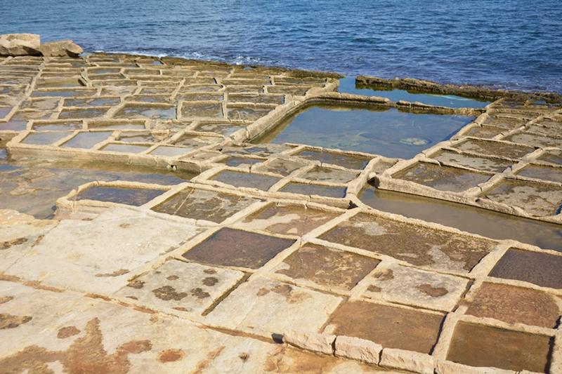 panwie solne, salt pans, Malta