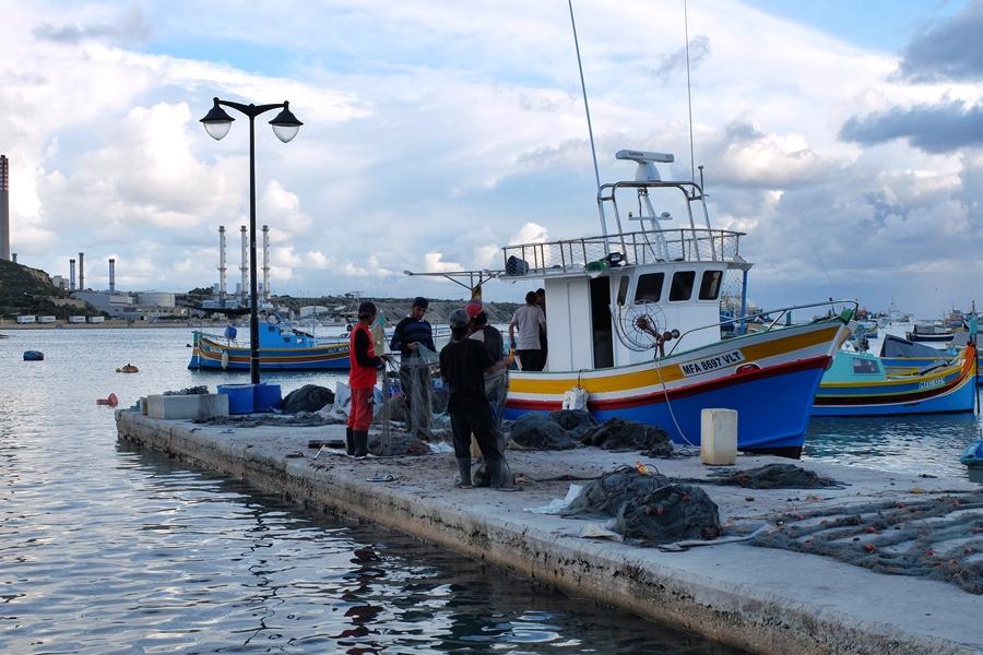 Marsaxlokk Malta łodzie luzzu
