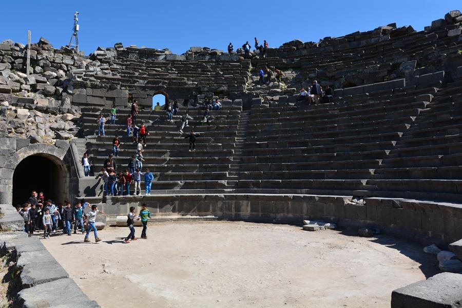amfiteatr, Gadara, Umm Kajs, Jordania