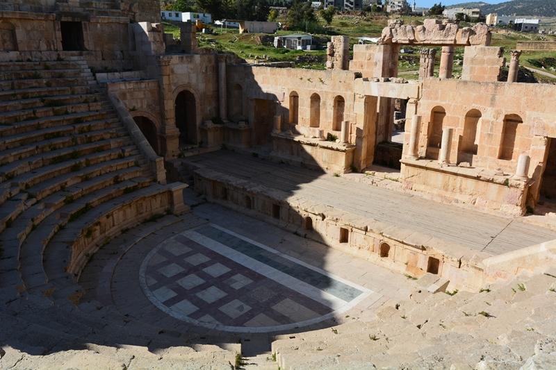 Geraza, Jordania, teatr północny