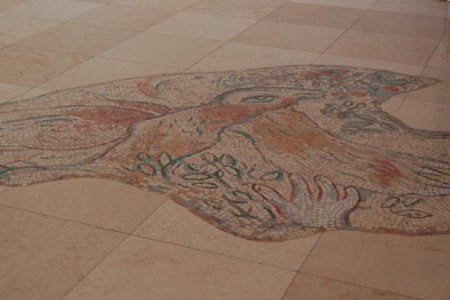 mozaika podłogowa Kneset Jerozolima Chagall