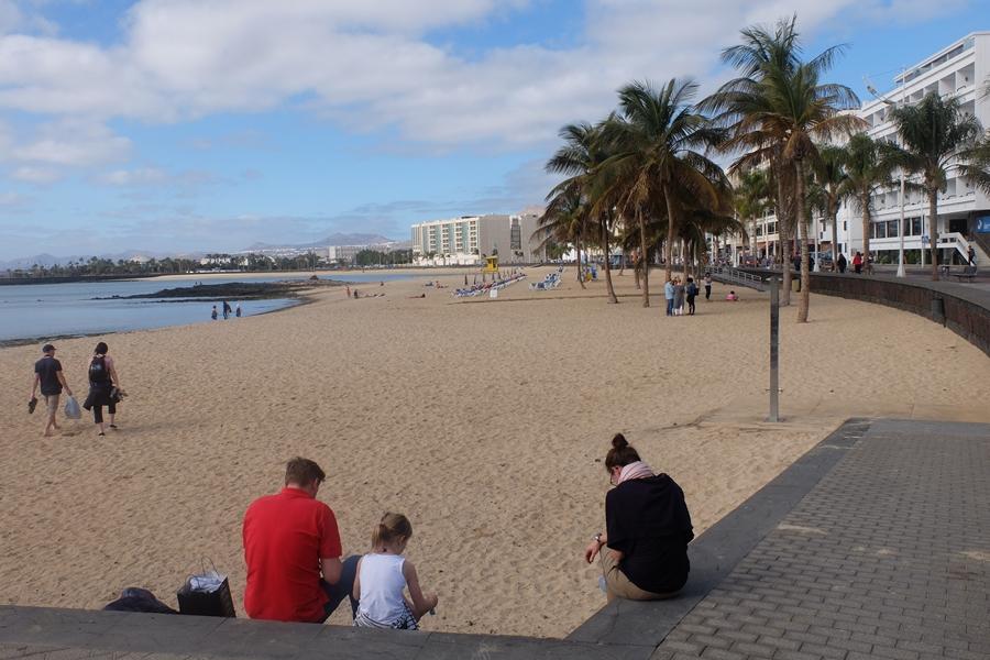 Lanzarote, plaża w Arrecife