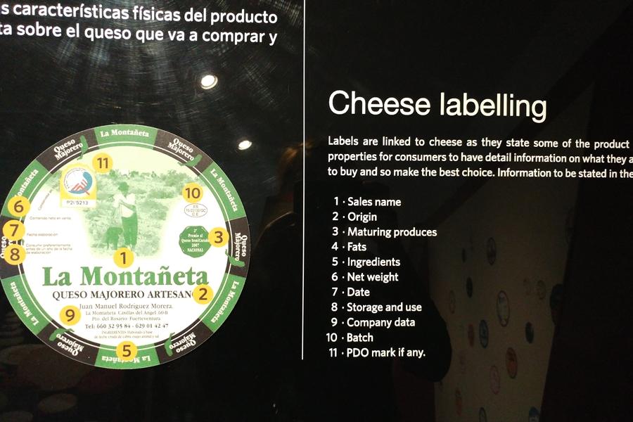 oznakowanie serów majorero