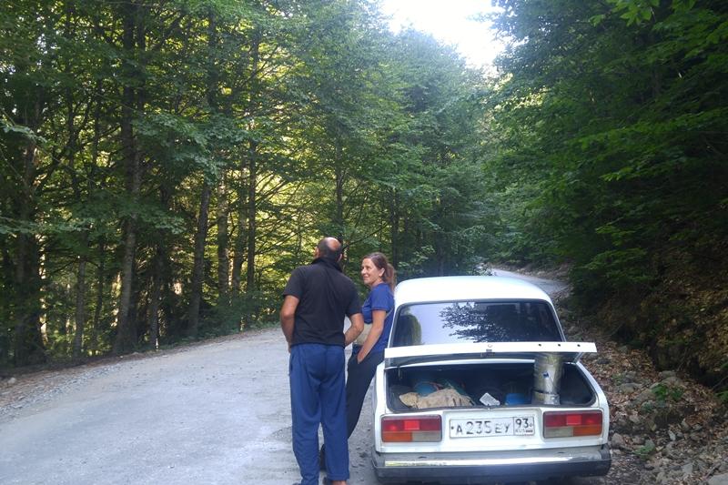 żiguli, wycieczki górskie po abchasku