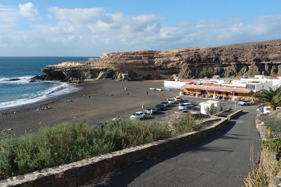 Fuerteventura, plaża w Ajuy