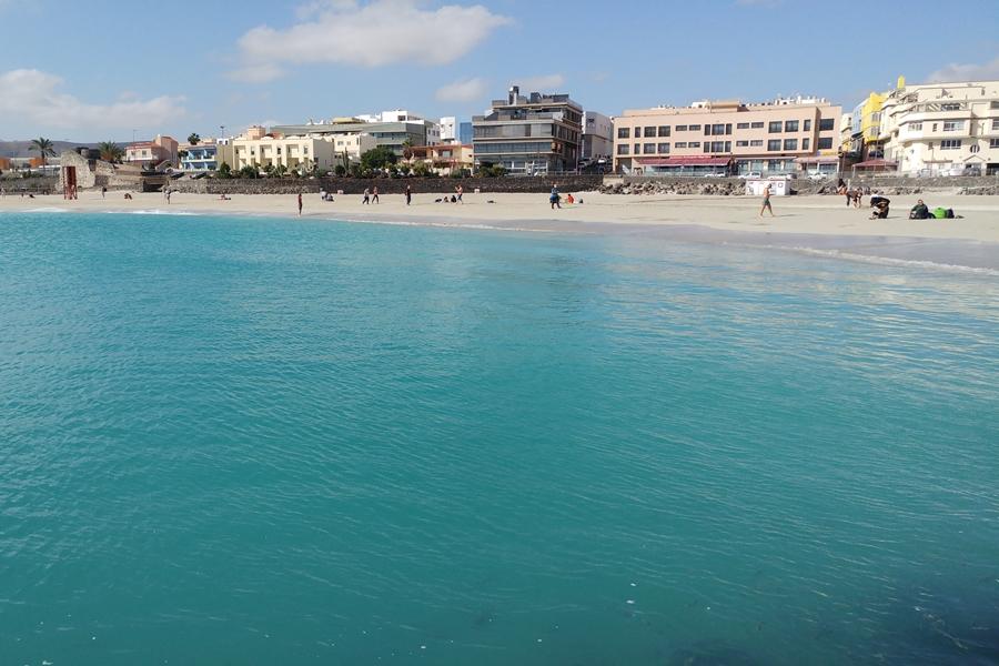 Fuertaventura, plaża w stolicy wyspy, Puerto de Rosario