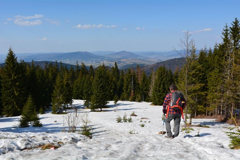 śnieg na wiosnę, Gorce