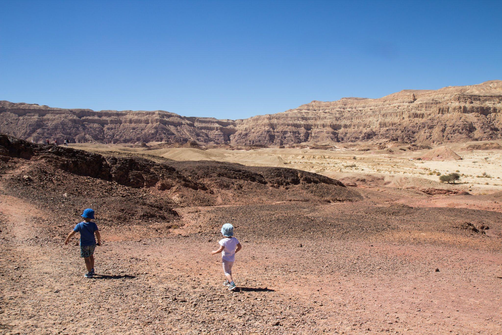 Pustynia Negew, Izrael, szlaki z dziećmi