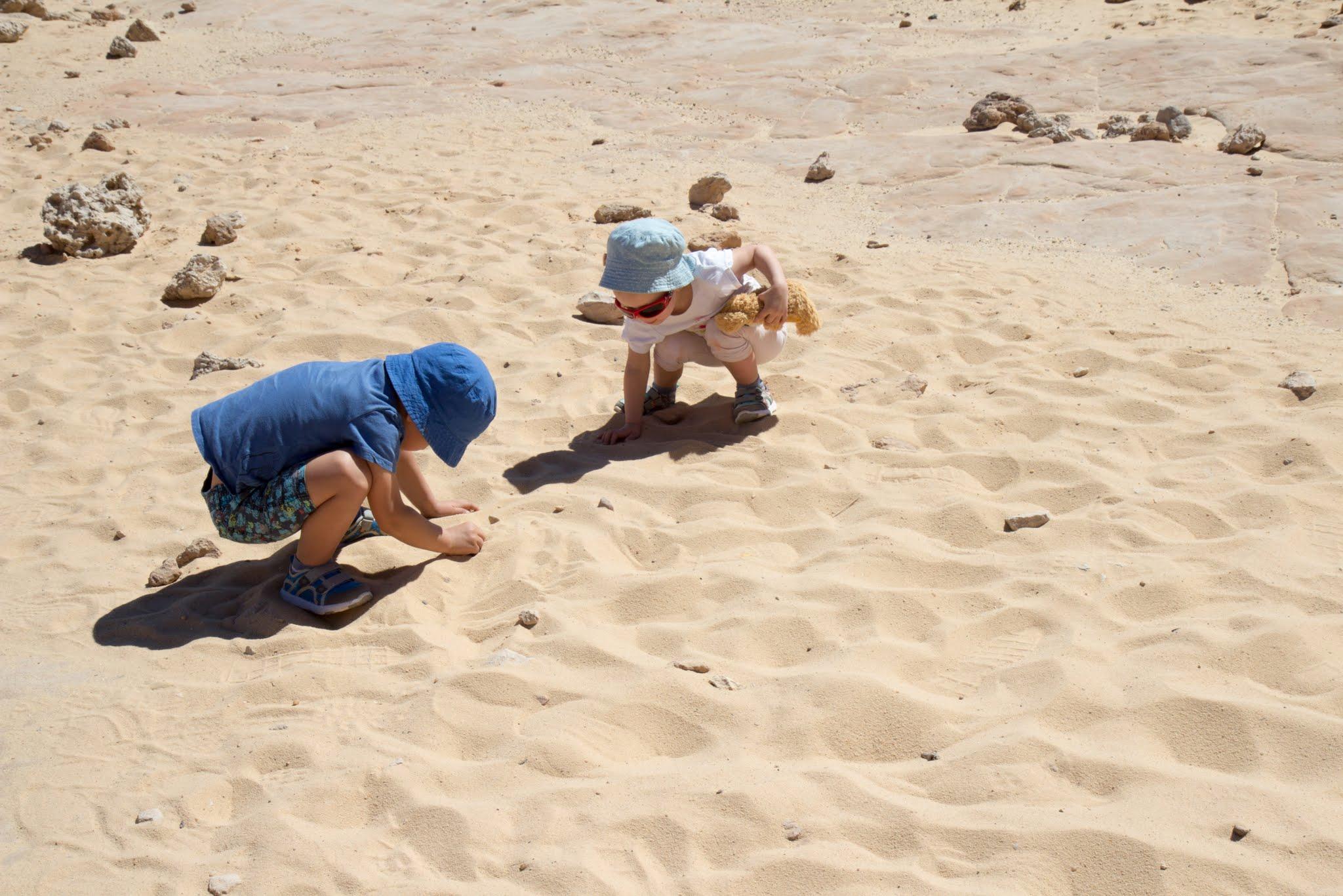 Timna Park, Izrael, piaskownica dla dzieci