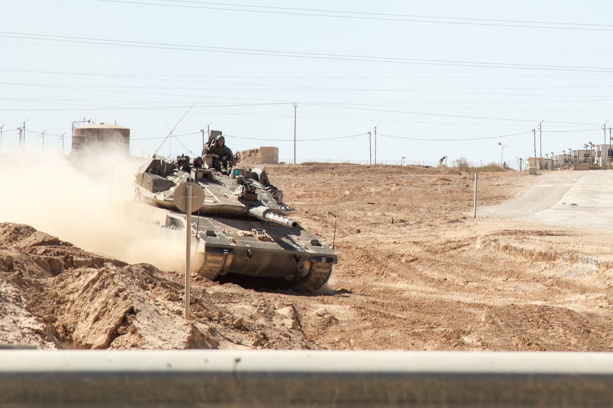 poligon na Pustyni Negew w Izraelu