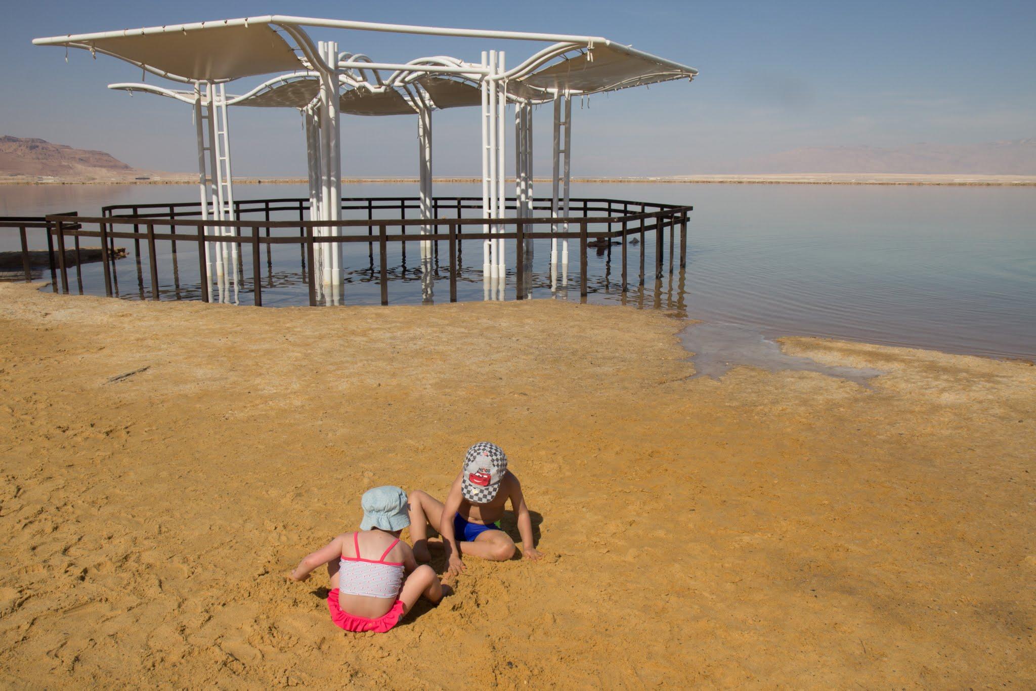 Morze Martwe, Izrael, plaże