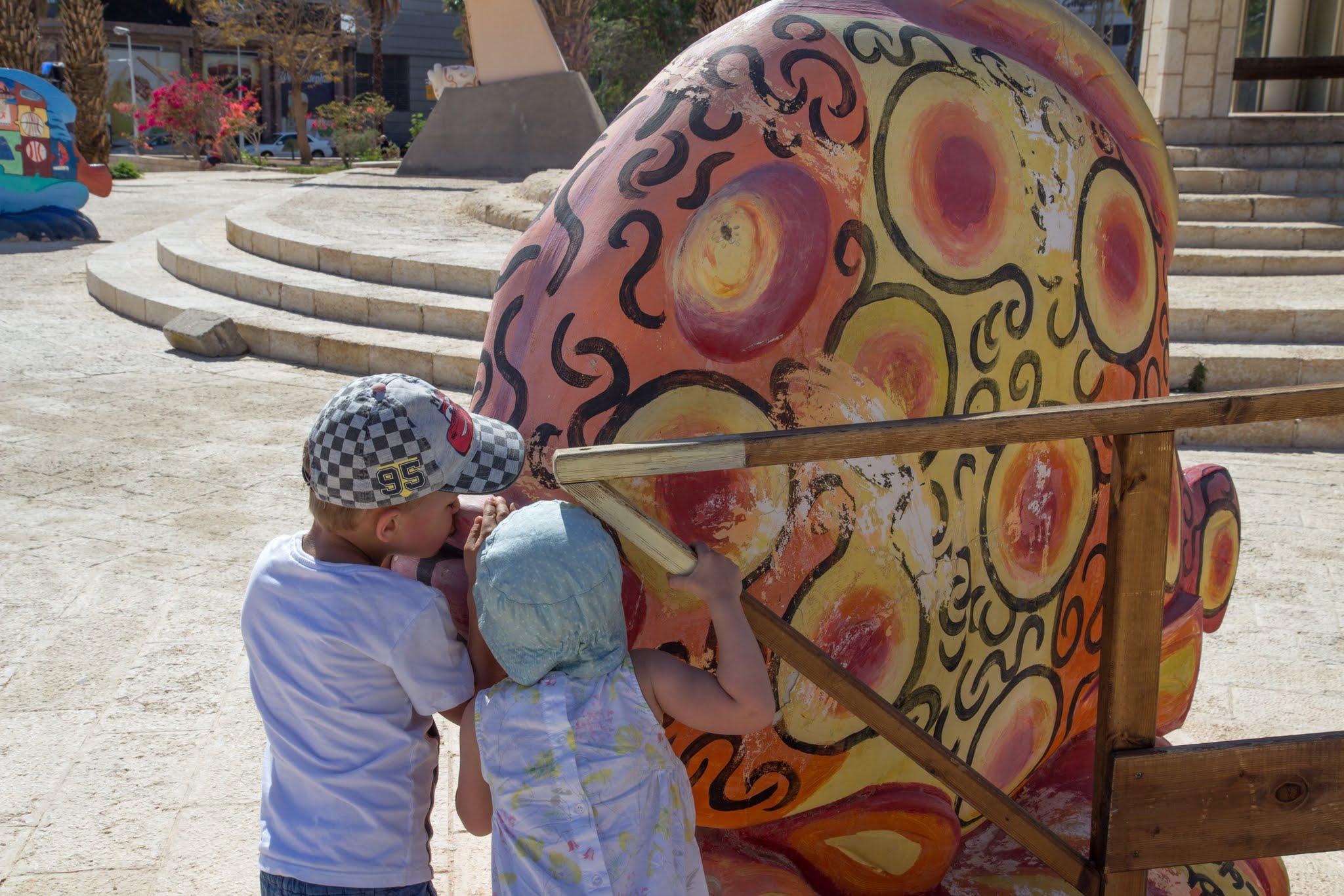 Ejlat, place zabaw dla dzieci, Izrael z dzieckiem
