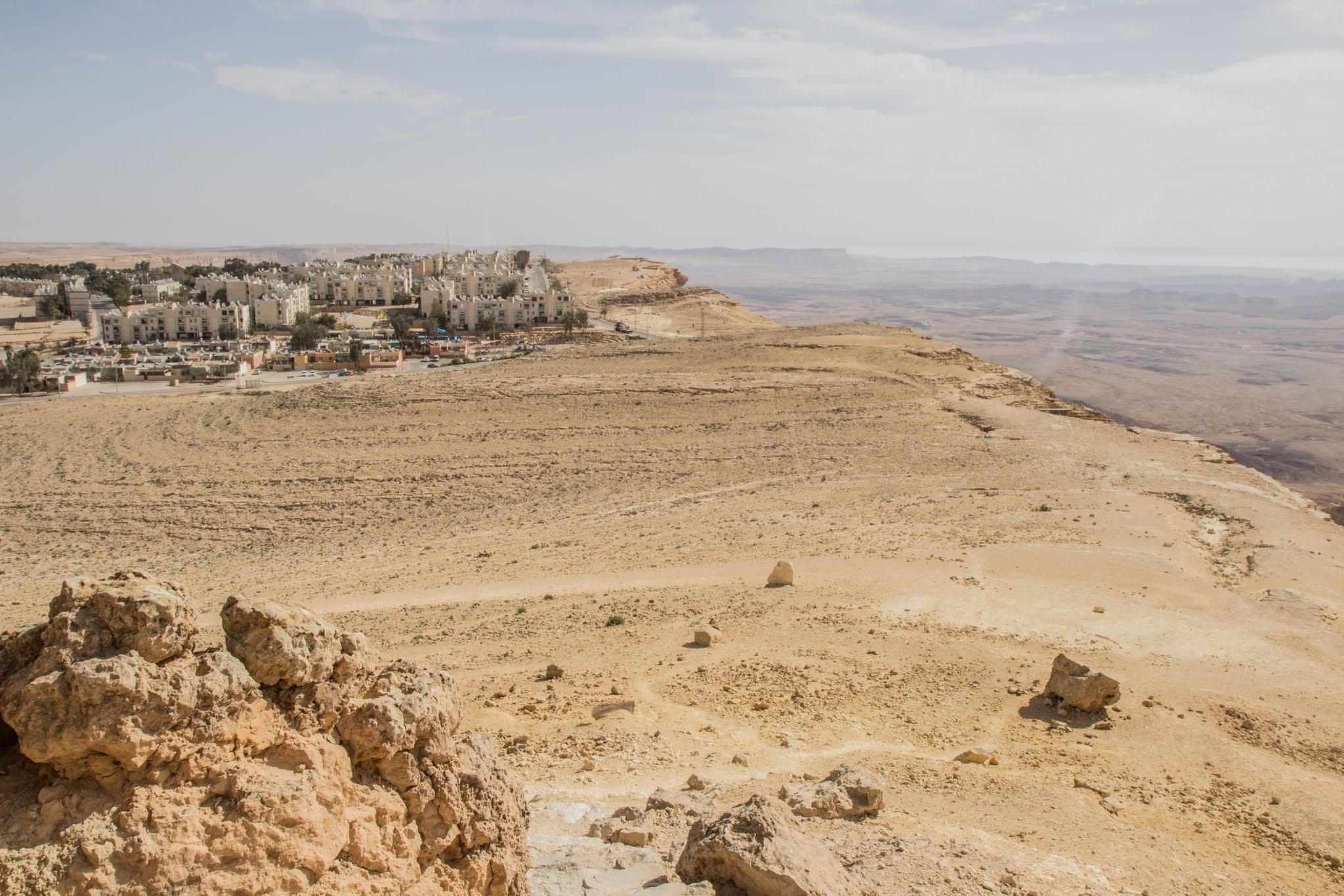 Mitzpe Ramon, Izrael, miasto nad kraterem
