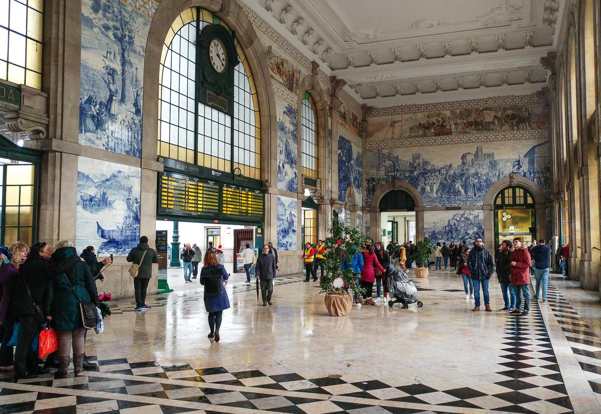 Porto, dworzec kolejowy Sao Bento