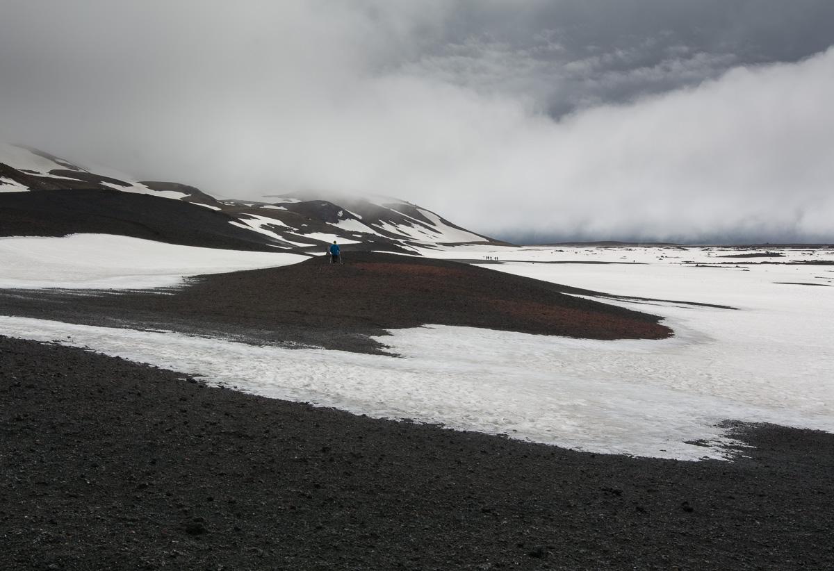 Askja, Islandia, wnętrze kaldery wulkanu