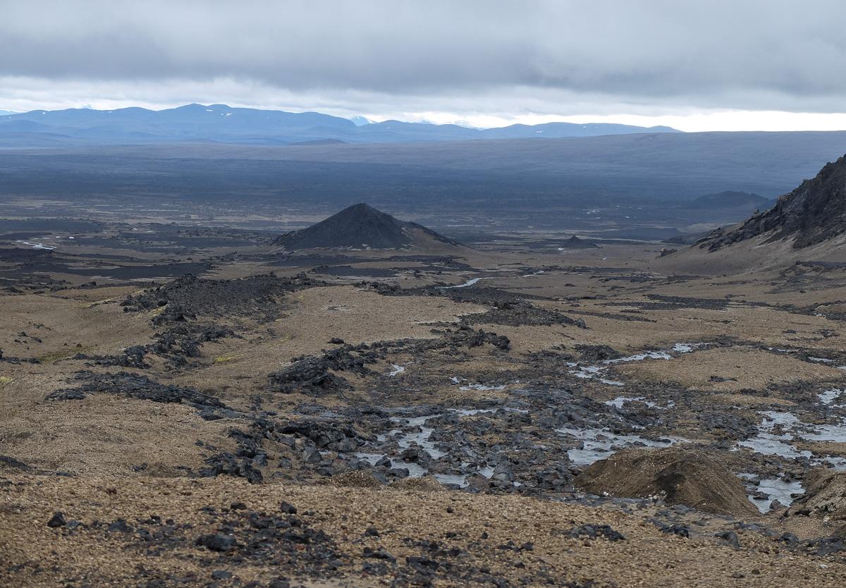 Askja, Islandia, widok z góry